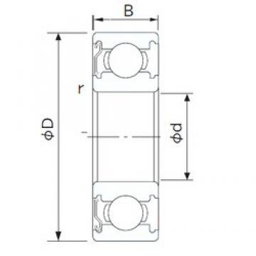 32 mm x 75 mm x 20 mm  NACHI 63/32ZE deep groove ball bearings