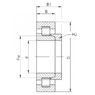 70 mm x 180 mm x 42 mm  Loyal NH414 cylindrical roller bearings