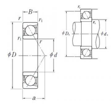 260 mm x 360 mm x 46 mm  NSK 7952A angular contact ball bearings
