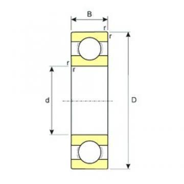 70 mm x 180 mm x 42 mm  ISB 6414 deep groove ball bearings