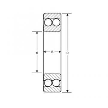 70 mm x 180 mm x 42 mm  SIGMA 10414 self aligning ball bearings