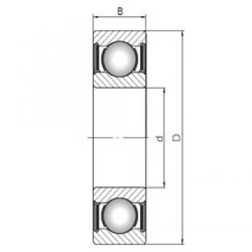 15 mm x 42 mm x 17 mm  ISO 62302-2RS deep groove ball bearings