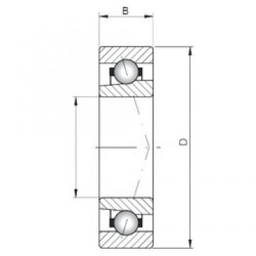 ISO 71952 A angular contact ball bearings