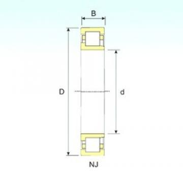 70 mm x 180 mm x 42 mm  ISB NJ 414 cylindrical roller bearings
