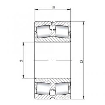 360 mm x 600 mm x 192 mm  ISO 23172W33 spherical roller bearings