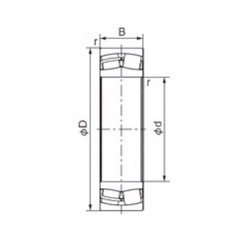 160 mm x 240 mm x 80 mm  NACHI 24032EX1 cylindrical roller bearings