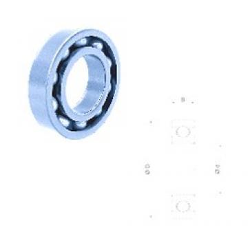 32 mm x 75 mm x 20 mm  Fersa 63/32 deep groove ball bearings