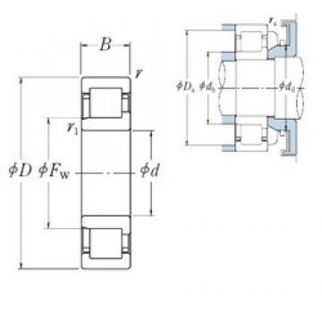 70 mm x 180 mm x 42 mm  NSK NJ 414 cylindrical roller bearings