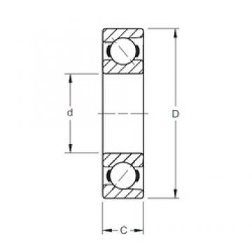 70 mm x 180 mm x 42 mm  Timken 7414WN angular contact ball bearings