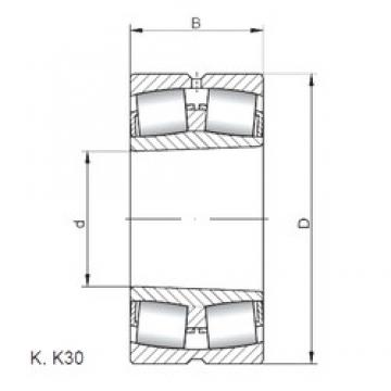 360 mm x 600 mm x 192 mm  Loyal 23172 KCW33 spherical roller bearings