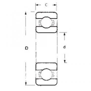 25 mm x 80 mm x 21 mm  FBJ 6405 deep groove ball bearings