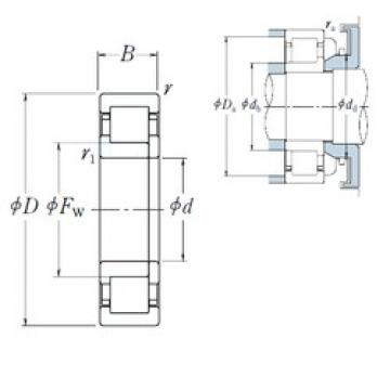 70 mm x 180 mm x 42 mm  NSK NUP 414 cylindrical roller bearings