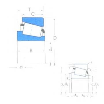 55 mm x 90 mm x 23 mm  Timken JLM506849/JLM506810 tapered roller bearings