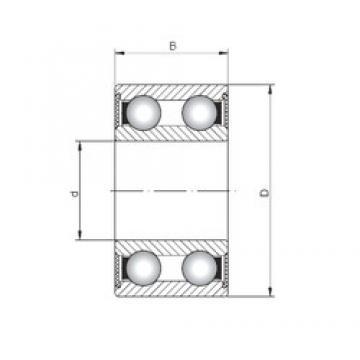 15 mm x 42 mm x 17 mm  ISO 4302-2RS deep groove ball bearings