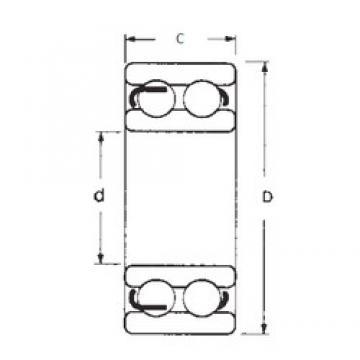 15 mm x 42 mm x 17 mm  FBJ 4302 deep groove ball bearings