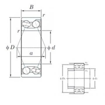 55 mm x 100 mm x 33.3 mm  KOYO 3211 angular contact ball bearings