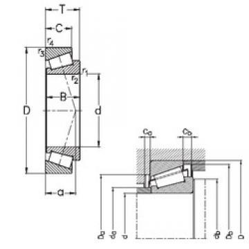 55 mm x 90 mm x 23 mm  NKE 32011-X tapered roller bearings