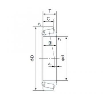 55.000 mm x 90.000 mm x 23.000 mm  NACHI JLM506849E/JLM506810E tapered roller bearings