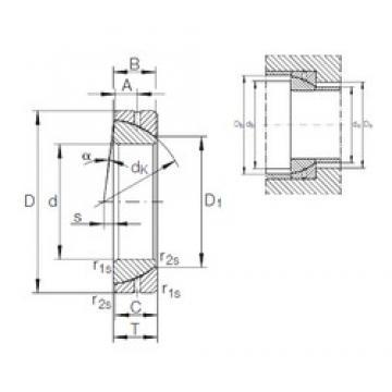 45 mm x 75 mm x 19 mm  INA GE 45 SX plain bearings