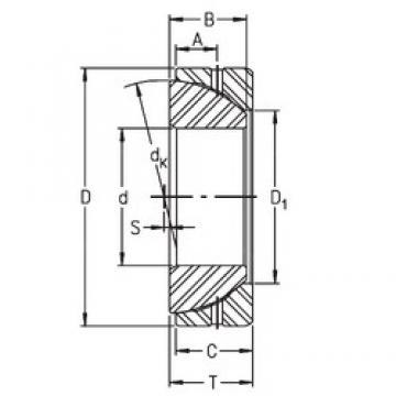 45 mm x 75 mm x 19 mm  Timken GE45SX plain bearings