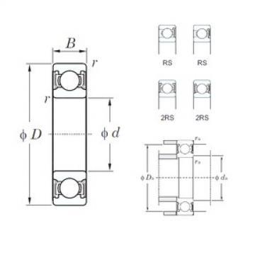 32 mm x 75 mm x 20 mm  KOYO 63/32-2RS deep groove ball bearings