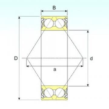 55 mm x 100 mm x 33,3 mm  ISB 3211-ZZ angular contact ball bearings