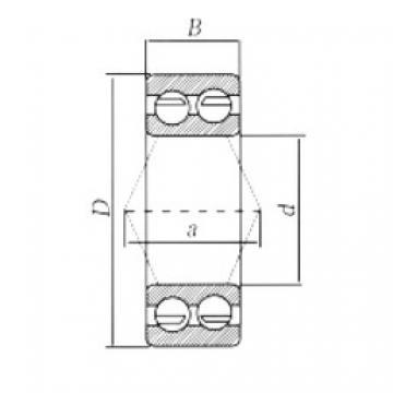 55 mm x 100 mm x 33,3 mm  Loyal 3211ZZ angular contact ball bearings