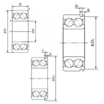 55 mm x 100 mm x 33.3 mm  NACHI 5211ANR angular contact ball bearings