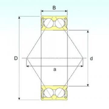 55 mm x 100 mm x 33,3 mm  CYSD 5211 2RS angular contact ball bearings