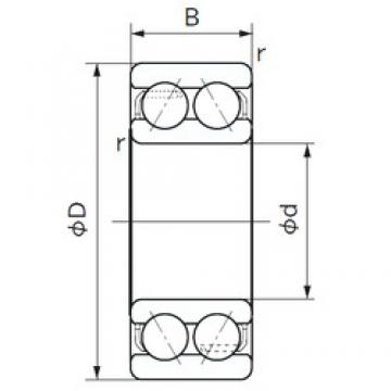 55 mm x 100 mm x 33.3 mm  NACHI 5211 angular contact ball bearings