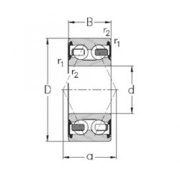 55 mm x 100 mm x 33,3 mm  NKE 3211-B-2RSR-TV angular contact ball bearings