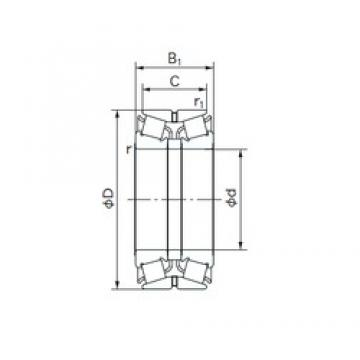 NACHI 360KBE031 tapered roller bearings
