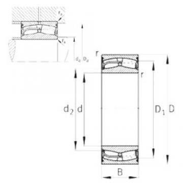 160 mm x 240 mm x 80 mm  FAG 24032-E1-2VSR-H40 spherical roller bearings