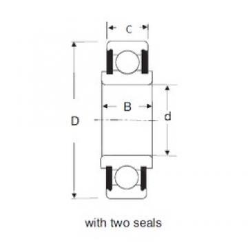 15 mm x 42 mm x 17 mm  SIGMA 88602 deep groove ball bearings