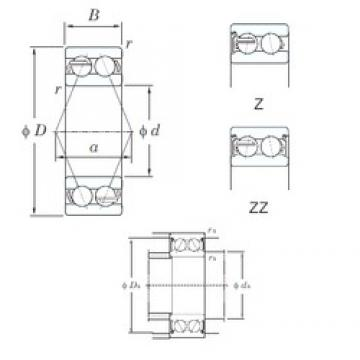 55 mm x 100 mm x 33.3 mm  KOYO 5211ZZ angular contact ball bearings