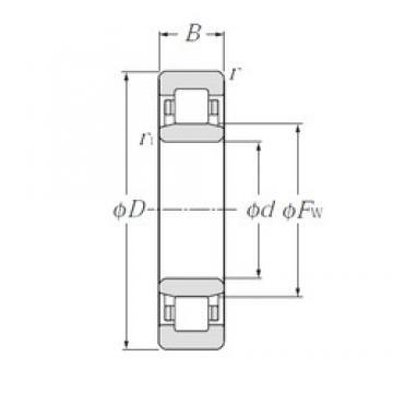 25 mm x 80 mm x 21 mm  NTN NU405 cylindrical roller bearings