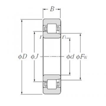 25 mm x 80 mm x 21 mm  NTN NJ405 cylindrical roller bearings