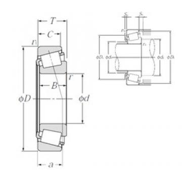 45 mm x 75 mm x 20 mm  NTN 4T-32009X tapered roller bearings