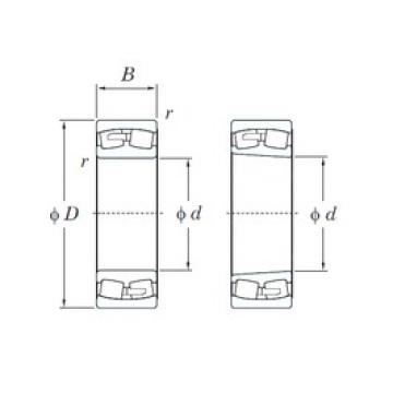 360 mm x 600 mm x 192 mm  KOYO 23172R spherical roller bearings