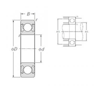 32 mm x 75 mm x 20 mm  NTN 63/32ZZ deep groove ball bearings