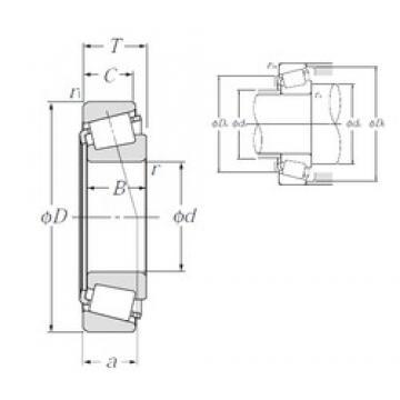 55 mm x 90 mm x 23 mm  NTN 4T-JLM506849/JLM506810 tapered roller bearings