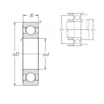260 mm x 360 mm x 46 mm  NTN 6952 deep groove ball bearings