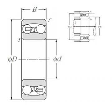 15 mm x 42 mm x 17 mm  NTN 2302S self aligning ball bearings