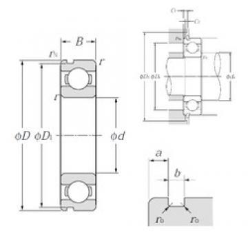 32 mm x 75 mm x 20 mm  NTN 63/32N deep groove ball bearings