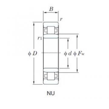 70 mm x 180 mm x 42 mm  KOYO NU414 cylindrical roller bearings