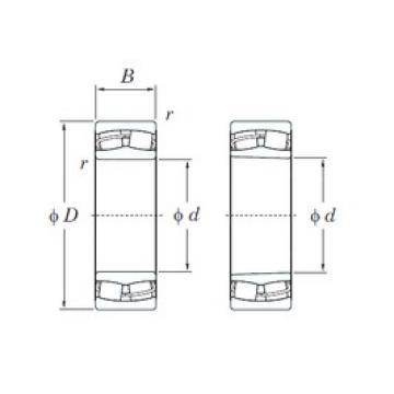 160 mm x 240 mm x 80 mm  KOYO 24032RHK30 spherical roller bearings