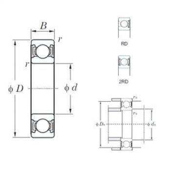 32 mm x 75 mm x 20 mm  KOYO 63/32-2RD deep groove ball bearings