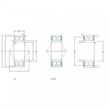 55 mm x 100 mm x 33,3 mm  SKF E2.3211A-2Z angular contact ball bearings