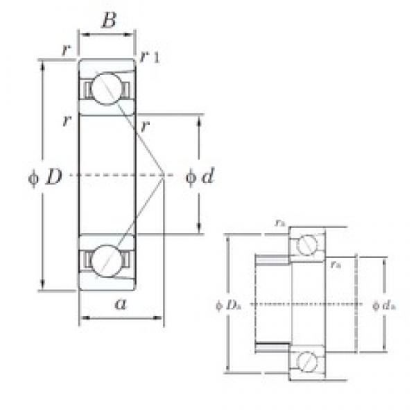 25 mm x 80 mm x 21 mm  KOYO 7405 angular contact ball bearings #1 image