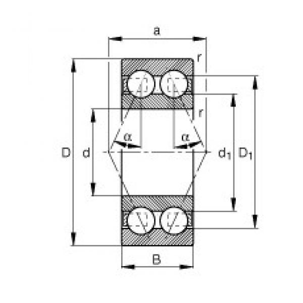 55 mm x 100 mm x 33,3 mm  FAG 3211-BD-TVH angular contact ball bearings #1 image